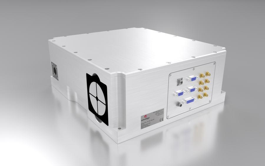 Dual wavelength fiber laser CARS SRS